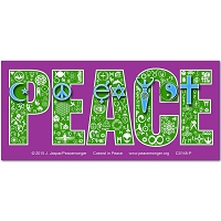 CS148 - Coexist in Peace Interfaith Symbol Mosaic Color Sticker