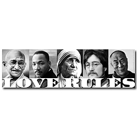 CS153 - Love Rules Bumper Sticker