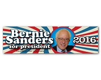 CS155-D - Bernie Sanders 2016 Color Sticker