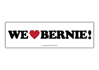 CS155-E - We Love Bernie Color Sticker