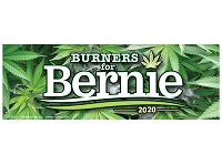 MS155-G - Burners for Bernie for President 2020 Color Mini Sticker