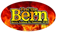 CS155-O - Feel the Bern Sander for President  Oval Color Sticker