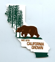 CS170 - California Grown Bear Color Sticker