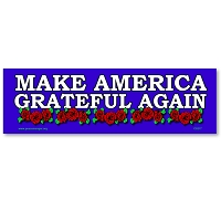 MS566 - Make America Grateful Again Dead Red Bertha Roses Color Mini Sticker