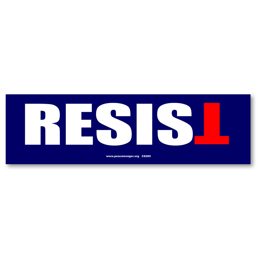 Cs280 resist anti trump color sticker activist social justice