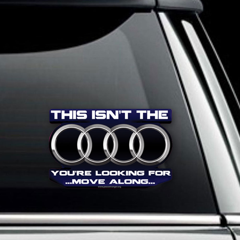 Cs324 Audi Star Wars Parody Jedi Mind Trick Color Sticker