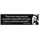 CS032 - Peaceful Revolution Large Full Color Bumper Sticker