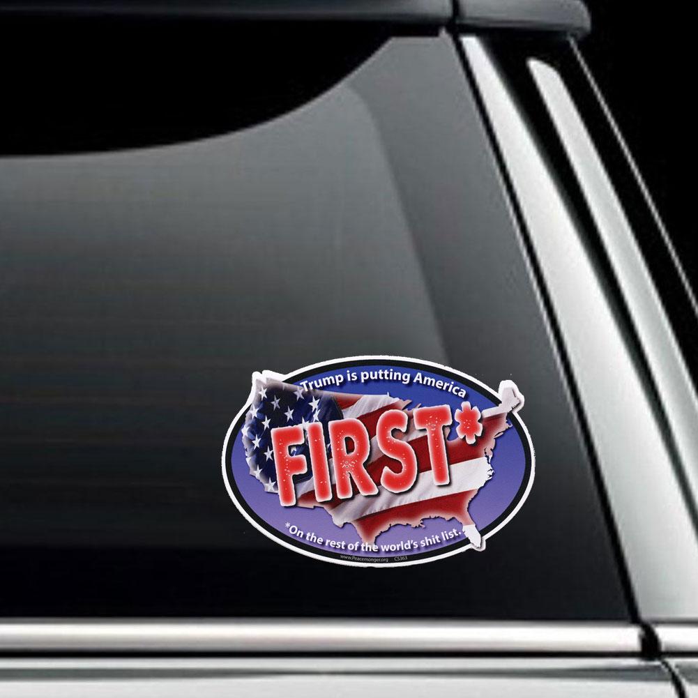 Cs363 trump is putting america first no trump never trump sticker