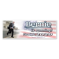 CS459 Bernie is Running Foresight 2020 Bernie Sanders for President Sticker