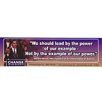 CS82 - We should lead by the power of our example Large Full Color Bumper Sticker