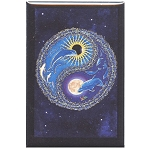 FM065 - Dolphin Flight Day Night Yin Yang Fridge Magnet