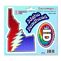 DS012 Idaho Deadhead SYF Lightning Bolt Grateful Dead 3 Sticker Set