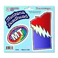 DS026 Montana Deadhead SYF Lightning Bolt Grateful Dead 3 Sticker Set