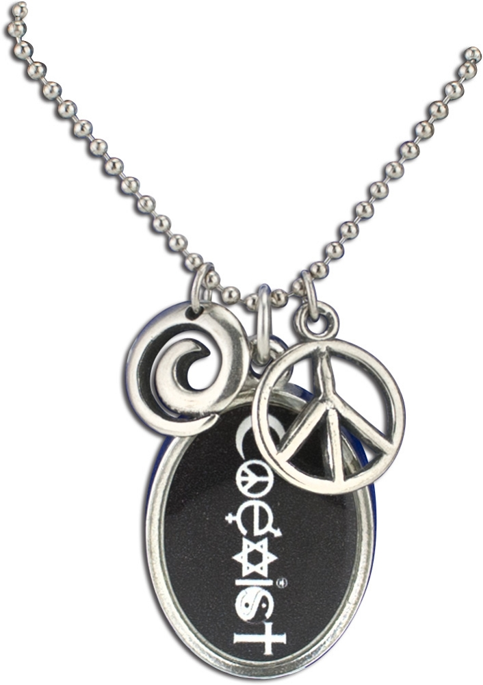 J225 coexist interfaith resin cast pendant with peace symbol j225 coexist interfaith resin cast pendant with peace symbol charms and ball chain aloadofball Images