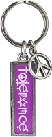 J232 - Tolerance Interfaith Resin Cast Pendant with Peace Charm Keychain Key Ring