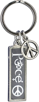 J235 - Peace Interfaith Resin Cast Pendant with Peace Charm Keychain Key Ring