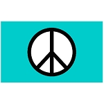 FLG002 - Green Peace Symbol Flag - Banner