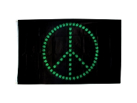 FLG003 - Pot Leaf Peace Flag - Banner