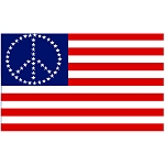 FLG004 - US Peace Stars Flag - Banner