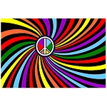 FLG006 - Rainbow Peace Flag - Banner