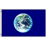 FLG010 - Globe/Earth Day World Flag
