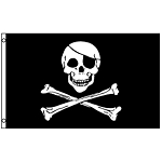 FLG011 - Skull and Crossbones Pirate Flag Nylon