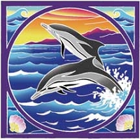 FLG033 - Striped Dolphins Flag