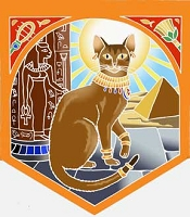 FLG035 - Egyptian Bast Cat Flag