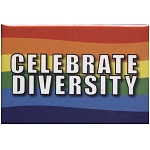 FM007 - Celebrate Diversity Rainbow Fridge Magnet