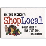 FM016 - Fix The Economy: Shop Local Fridge Magnet