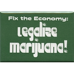 FM018 - Fix The Economy: Legalize Marijuana Hemp Cannabis Fridge Magnet