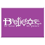 FM053 - Believe in Love - Believe in Peace Interfaith Symbols Fridge Magnet
