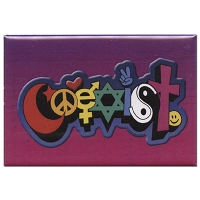 FM061 - Happy Coexist Fridge Magnet