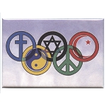 FM063 - SymbOlympics Interfaith Fridge Magnet