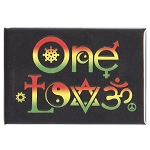 FM064 - One Love Symbols Rasta Fridge Magnet
