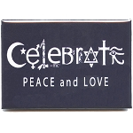 FM071 - Celebrate Peace and Love Symbols Fridge Magnet