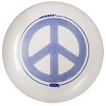 FR01 - Peace Frisbee White Peace Sign Flying Disk Golf Disk