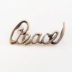 J004 - Sterling Peace Script Pendant (DISCONTINUED)