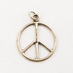 J012 - Thin Sterling Peace Pendant