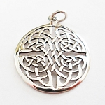 J023 - Sterling Lace Celtic Knot Pendant