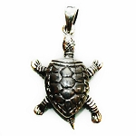 J024 - Sterling Moving Turtle Pendant