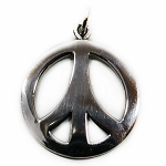J026 - Sterling Phat Peace Sign Pendant