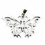 J027 - Sterling Tribal Butterfly Pendant