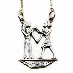J036 - Sterling Isis and Osiris Pendant with Chain