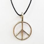 J055 - Mini Peace Pendant w/cord
