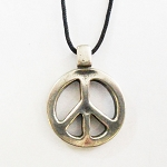 J063 - Small Thick Peace Pendant