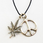 J065 - Peace Through Cannabis Pendant