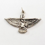 J082 - Isis Straight Winged Eco-Safe Pewter Pendant