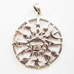 J116 - Sterling Astrology Sun Pendant