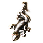 J120 - Sterling Gecko w/color eyes Pendant